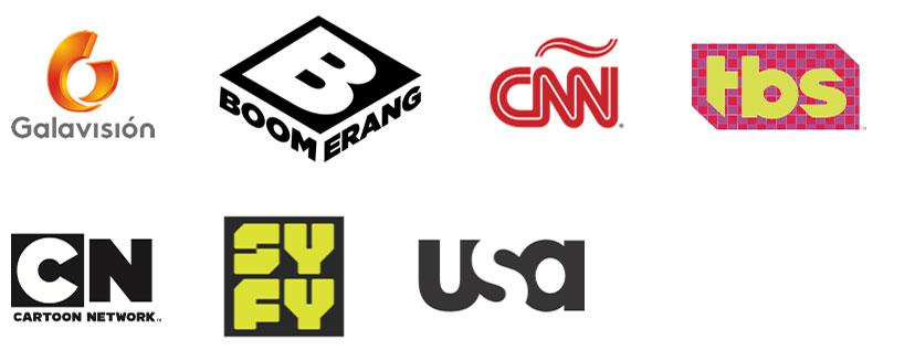galavision, Boomerang TV Channel, CNN, TBS, Cartoon Network, Syfy TV Channel, USA TV Channel